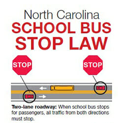 NC-school-bus-stop-law, school bus safety