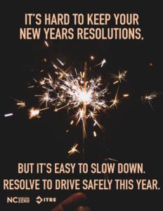 new years slow down speeding