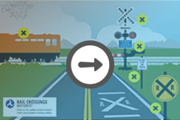 Motorist Grade Crossing Illustration, train safety